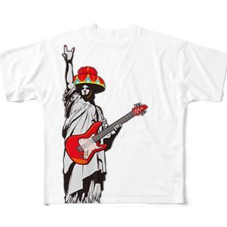 琉球ROCK(自由の女神) Full graphic T-shirts