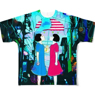 flowing ver.b Full graphic T-shirts