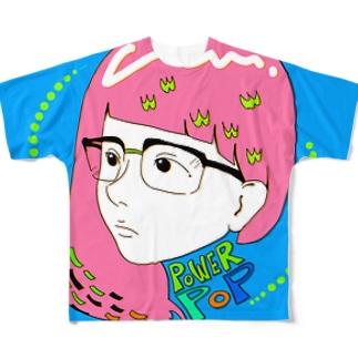 powerpopガール Full graphic T-shirts