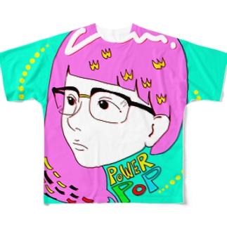 powerpopガール ver.b Full graphic T-shirts