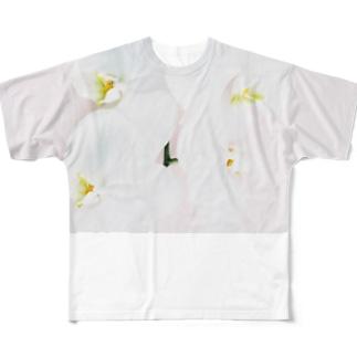 harucamera コチョウラン-3 Full graphic T-shirts