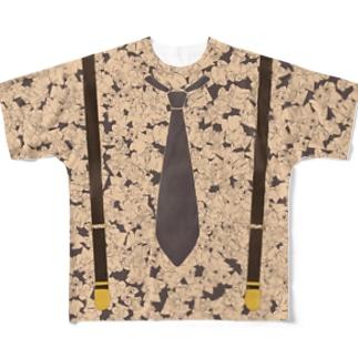 すけ詰めフェイクTシャツ Full graphic T-shirts