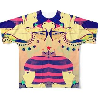 星食いの縞姉妹 Full graphic T-shirts
