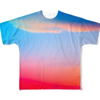 ひのまる弁当グアムの赤富士初夢一富士 Full graphic T-shirts
