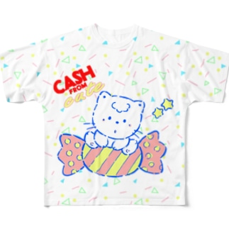 cash from cute Full graphic T-shirts