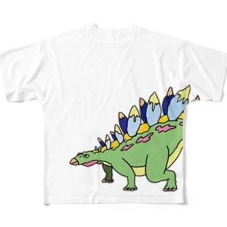 かっこいいりゅうくん(ステゴサウルス) Full graphic T-shirts