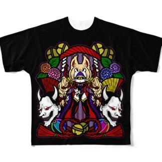 鬼狐:フルグラTシャツ Full graphic T-shirts