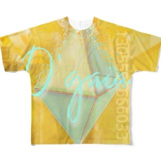 絵画的ピラミッドシステム崩壊 Full graphic T-shirts