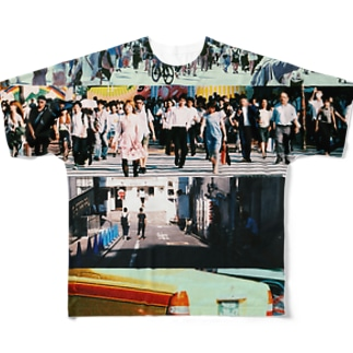 街 Full graphic T-shirts