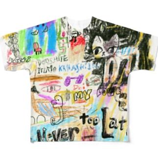 ドローイング Full graphic T-shirts