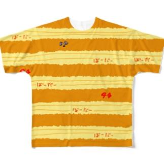 ボーダーよんよん Full graphic T-shirts