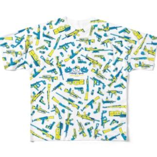 ミリにゃんフルグラフィックTシャツ Full graphic T-shirts