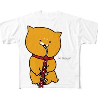 柴犬ラク(ヘッケルフォン) Full graphic T-shirts