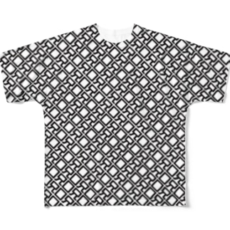 くちあに_monograms Full graphic T-shirts