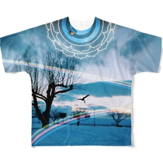 Sk8ersLoungeの八戸馬淵川公園TEE Full graphic T-shirts