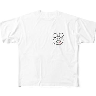 吐血くまちゃん Full graphic T-shirts