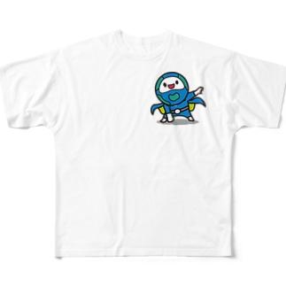 モッチブルーコレクション Full graphic T-shirts