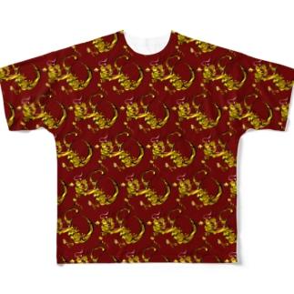 龍B パターン Full graphic T-shirts