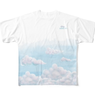 illust_mの店のShangri-la?? Full graphic T-shirts