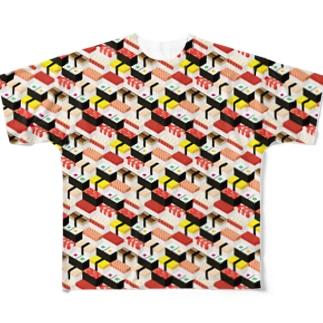 すしキューブ Full graphic T-shirts
