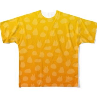 やるきないシルエット(イエロー) Full graphic T-shirts