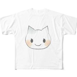 ねこちゃん Full graphic T-shirts