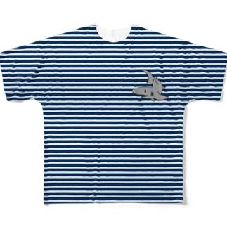 サメボーダー Full graphic T-shirts