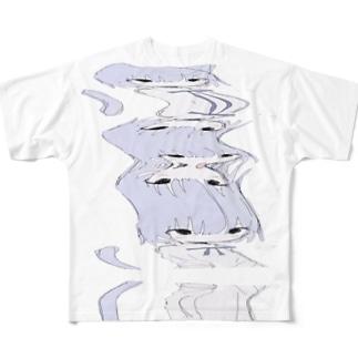 とろろ Full graphic T-shirts
