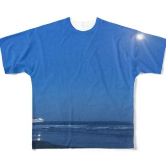 大洗サンビーチ (カラー) Full graphic T-shirts