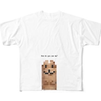 モザイクイタチ Full graphic T-shirts