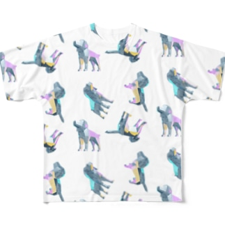 3Dいぬ Full graphic T-shirts