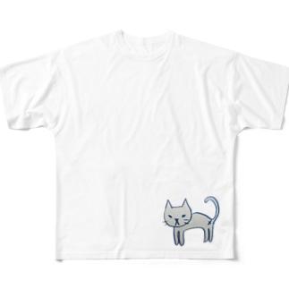 雑なネコ Full graphic T-shirts