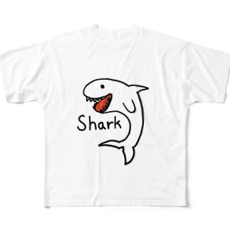 ゆるサメ Full graphic T-shirts