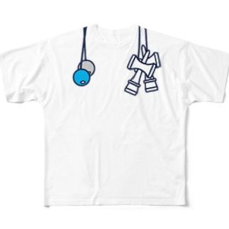 けん玉ルックTシャツ(左利き) Full graphic T-shirts