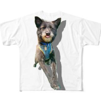うちのいぬ Full graphic T-shirts