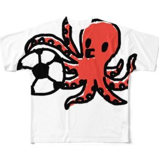 タコサッカー01 Full graphic T-shirts