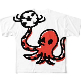 タコサッカー02 Full graphic T-shirts