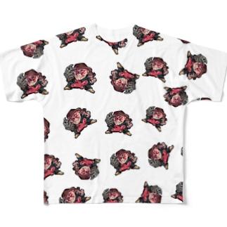 広島フレディフルグラ Full graphic T-shirts