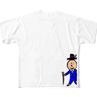 ケツプリ男爵L・XLサイズ用デザイン Full graphic T-shirts