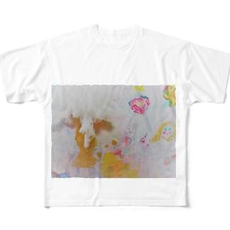 gold face Full graphic T-shirts