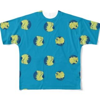 水玉じゃなくて猫玉 Full graphic T-shirts