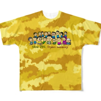 Mito cup3 黄色 迷彩 Full graphic T-shirts