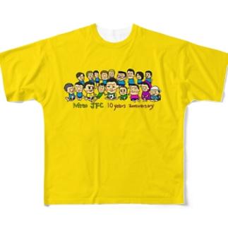 Mito cup3 黄 裏迷彩 Full graphic T-shirts