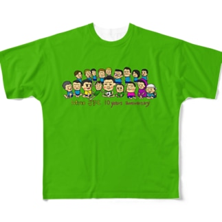 Mito cup3 緑 裏迷彩 Full graphic T-shirts