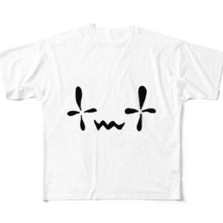 おばけのかお Full graphic T-shirts
