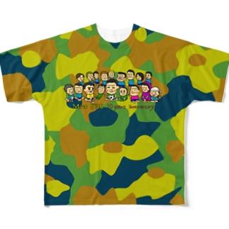 Mito cup3 茶黄 迷彩 Full graphic T-shirts