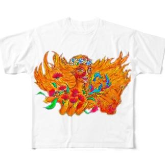~Aloha~ ペレ🌋より情熱 Full graphic T-shirts