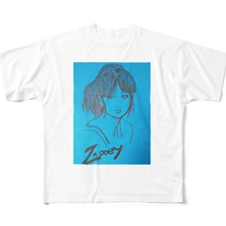 hina0055のズーイー Full graphic T-shirts