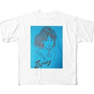 ズーイー Full graphic T-shirts