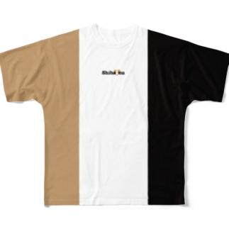 柴犬がラブで1番(トリコロール・背面はゴマ) Full graphic T-shirts